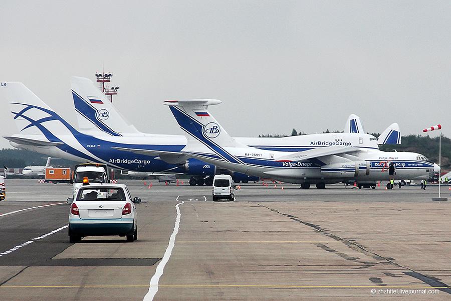 Ил-76, Боинг 747-8F и Ан-124-100 Руслан